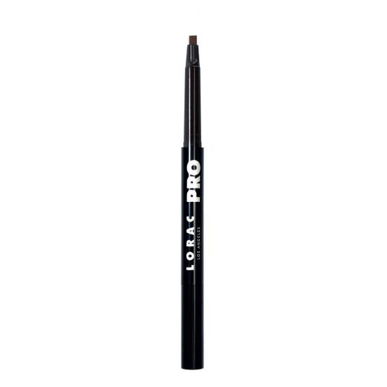 LORAC | PRO Precision Brow Pencil Dark Cool Brown - product front facing open