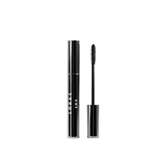 LORAC | LUX First Class Lash Mascara  - Product front facing closed and applicator
