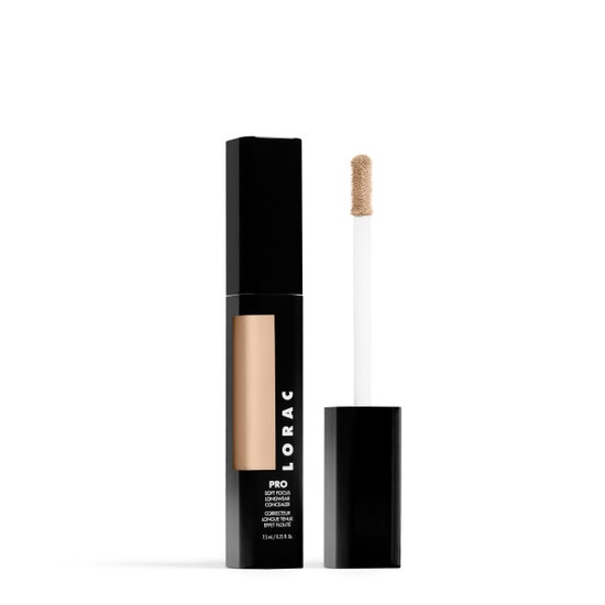LORAC | PRO Soft Focus Longwear Concealer- 5.5, 5.5 (Light with warm undertones) - Product slightly angeled showing applicator on white background