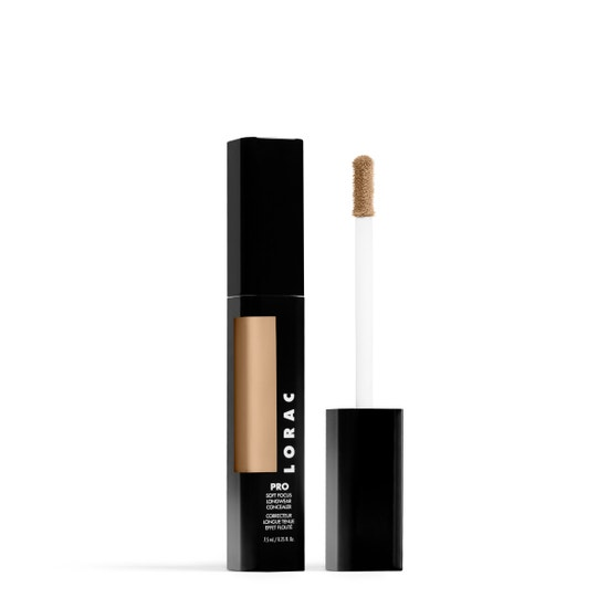 LORAC | PRO Soft Focus Longwear Concealer- 7.5, 7.5 (Light with neutral undertones) - Product slightly angeled with applicator showing