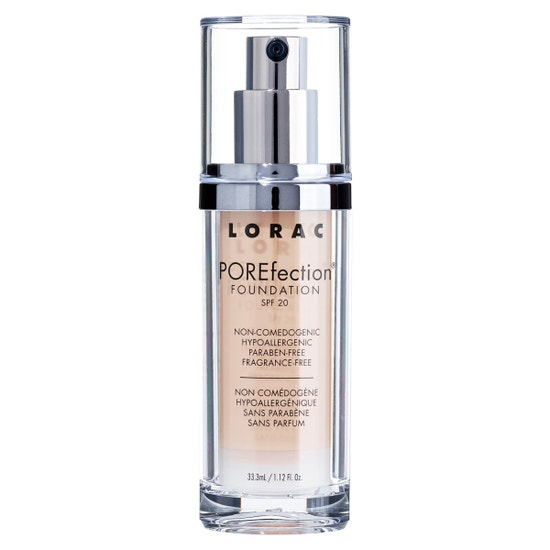 LORAC | POREfection® Foundation PR4.5 - Golden Beige | Product front facing on a white background
