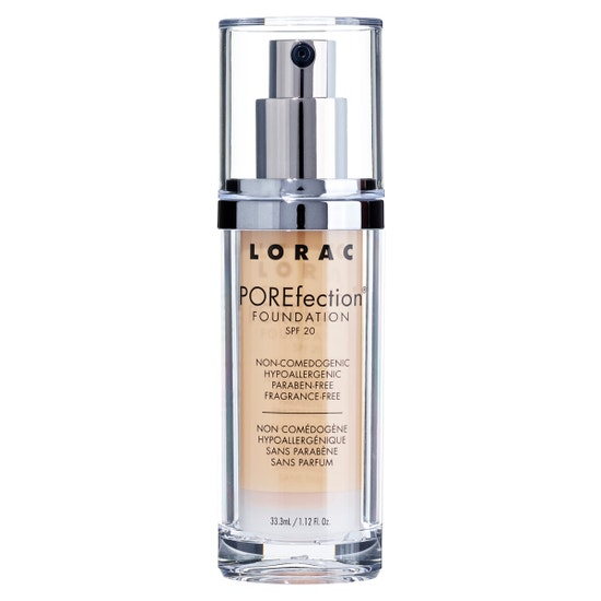 LORAC | POREfection® Foundation PR5.5 - Golden Natural | Product front facing on a white background