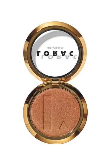 LORAC | TANtalizer Buildable Bronzing Powder Golden Girl, Golden Girl (Medium Tan) - product front facing open