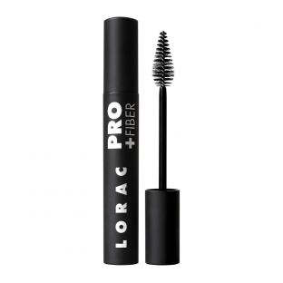 LORAC | PRO Plus Fiber Mascara - Product front facing with cap on and applicator