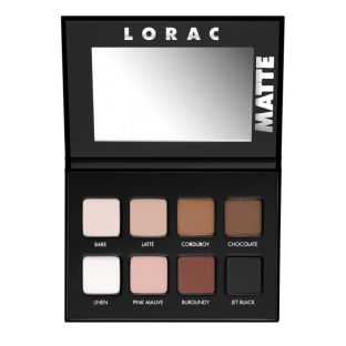 LORAC | PRO Matte Eye Shadow Palette - Product front facing open