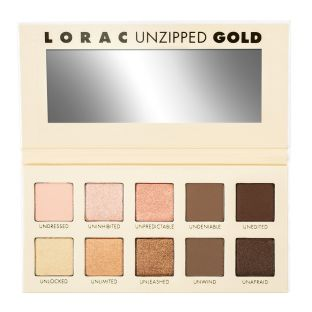 LORAC | UNZIPPED GOLD Eye Shadow Palette  - product front facing open