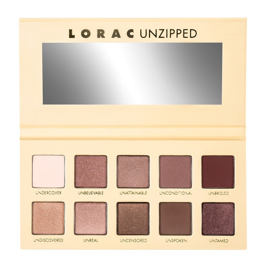 LORAC | UNZIPPED Eye Shadow Palette - product front facing open