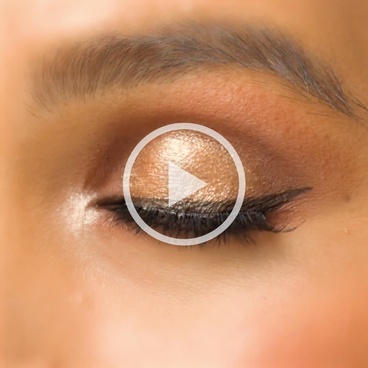 LORAC | Video of shadow being applied with a still image of closed eye after shadow is applied to it | Press to Play video